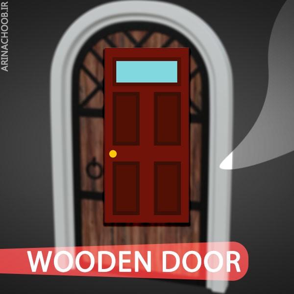 درب چوبی آریانا چوب